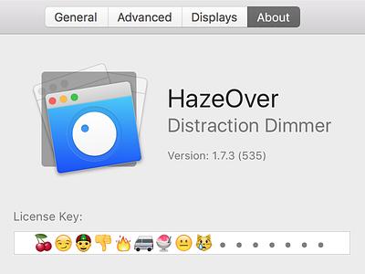 Emoji License Keys apple osx macos app mac emoji ui ux