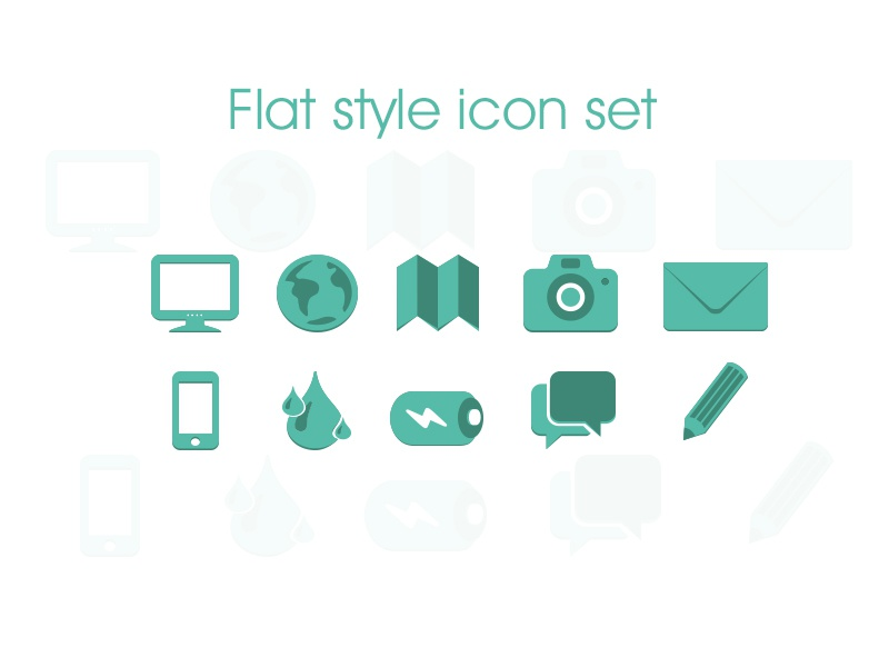 Flat style icon set by tanvir ahmed fahim dribbble gumiabroncs Gallery