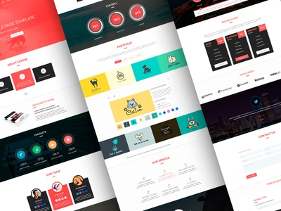 Xpose Single Page Template full project  ui ux response multipurpose simple clean landing page template theme blog porftolio