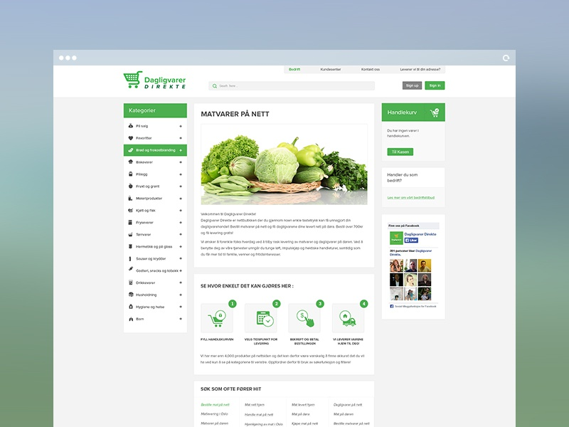 Dagligvarer e commerce website