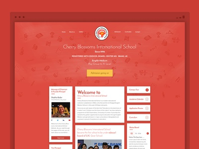 Cherry Blossoms Intetnational School school minimal clean pad mobile responsive interface design visual ui ux website