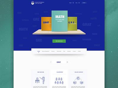 Solid Tutor website design interface responsive hero slider icon minimal clean ux ui online website education tutoring