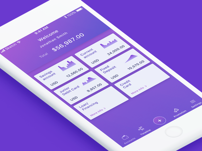 Bank App Account overview ui minimal clean simple overview account login finance bank ui ux