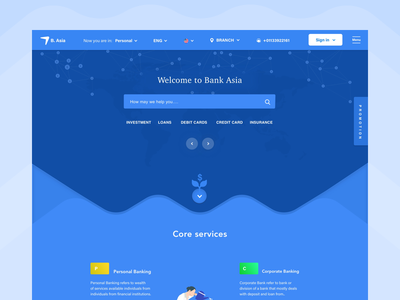 Bank Asia Home Page money search minimal clean fun simple home bank ui ux