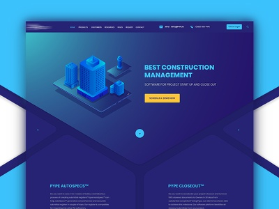 Construction Management Software icon design home illustration website minimal clean ux ui software management construction