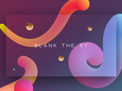 Blank Theory Home landing page home minimal clean exploration user interface website design