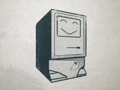 Retro Computer robot baby commadore 64 retro