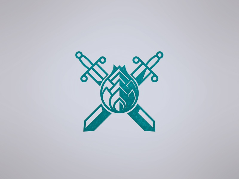 Initial Concept Beer Logo hops coat of arms logo sketch beer