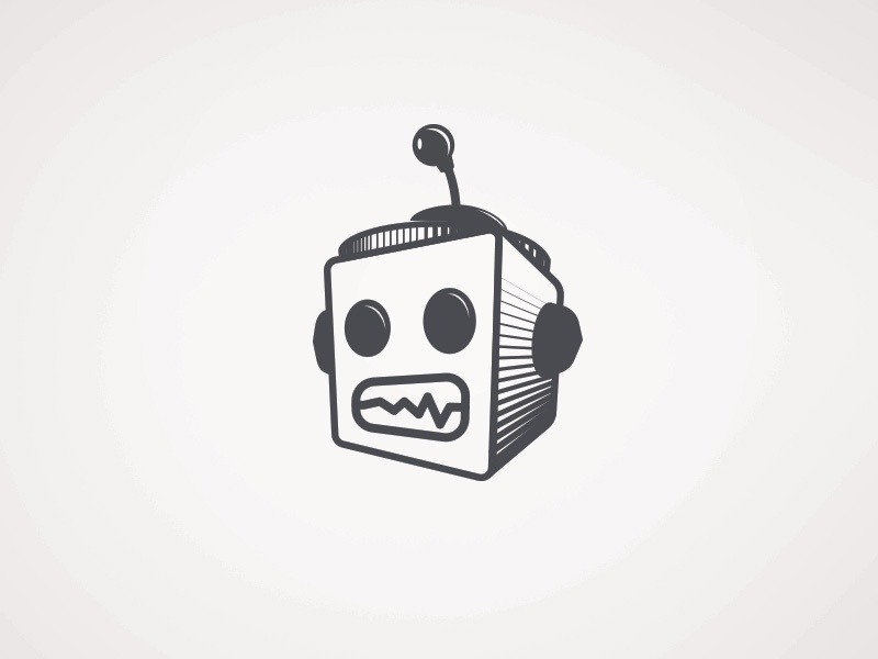Robot Head vector robot sketch