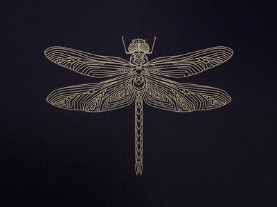 Dragonfly mark logo dragonfly illustration