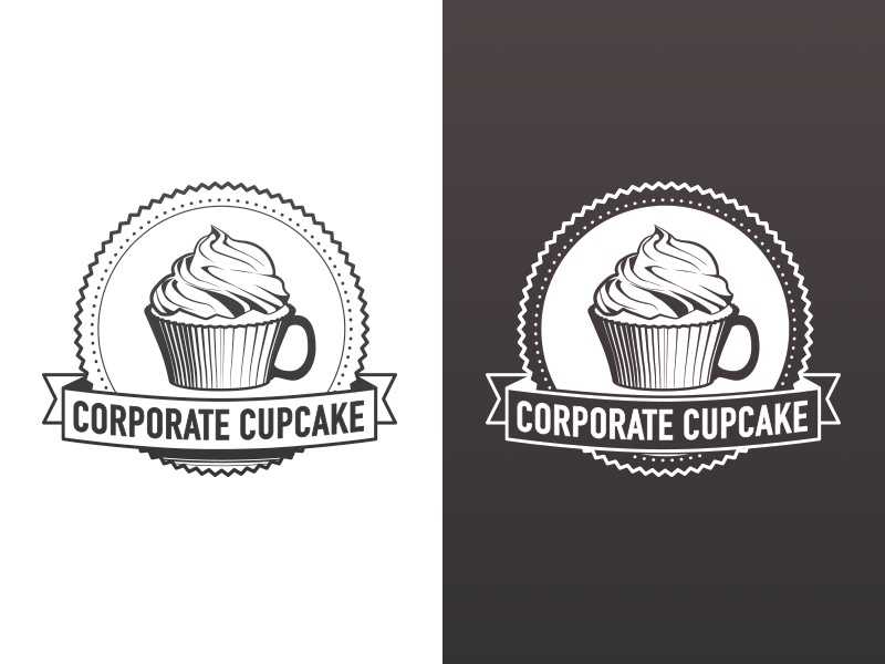 Corporate Cupcake cupcake logo
