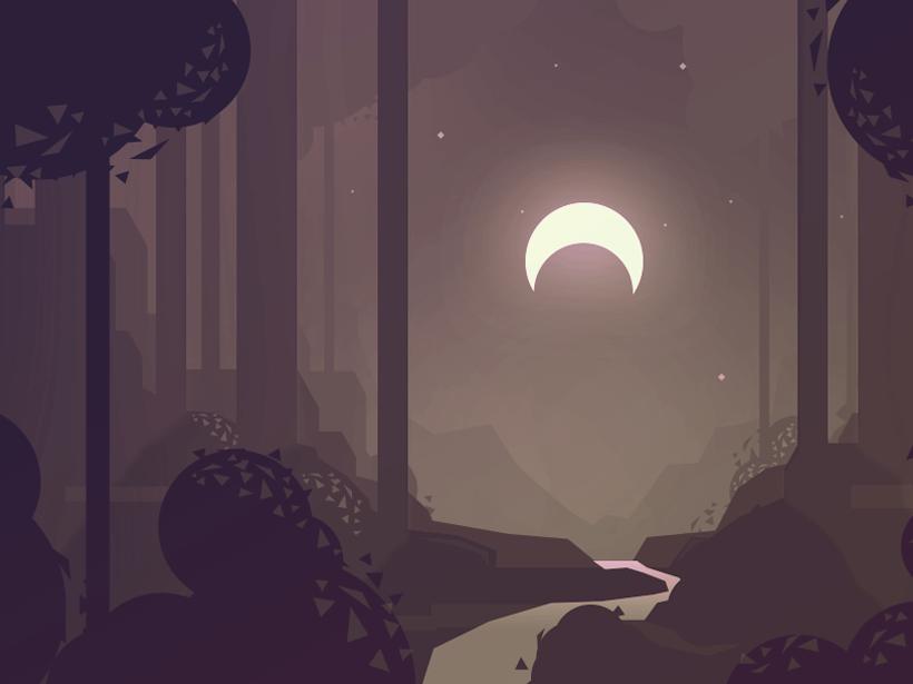 Forest Clearing game art swordsworcery vector sketch