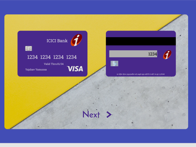 Credit Card Checkout graphic design ui