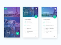 Travel Itinerary App UI Design