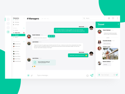 Slack Desktop App Redesign Concept app modern material design daily ui user interface ui messaging app messaging slack