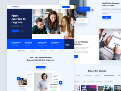 Coursera Homepage Redesign Concept