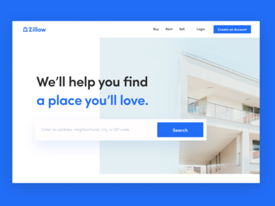 Zillow Real Estate Redesign Concept