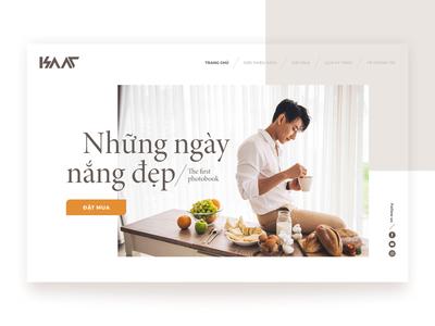 "Landing page concept for "" Nhung ngay nang dep"""