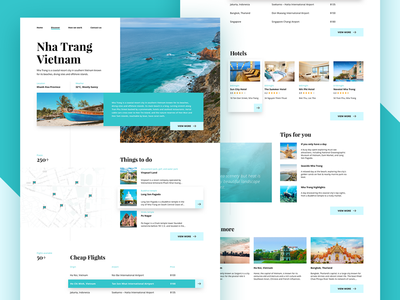 Travel website concept - 2nd shot
