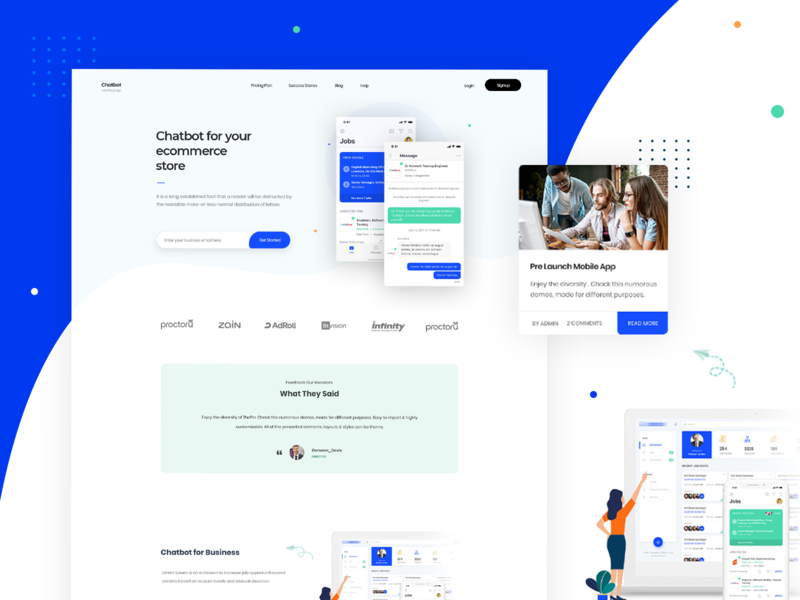 Chatbot thumb 01 chatbot chat colorful creative trending ui design clean inspiration