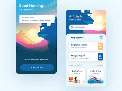 Agenda App reminder app travel app inspiration uxdesign mobile ui design trending clean ui creative