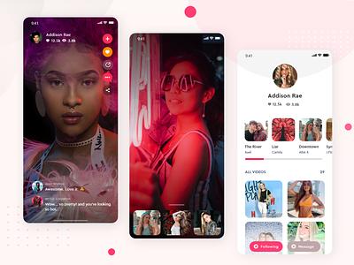 Media video app media app trending user experience mobile apps video mobile app ui design inspiration creative