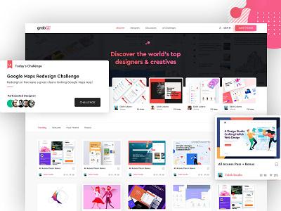 Website for Designers and Artists website concept cards clean design website clean ui trending design inspiration creative
