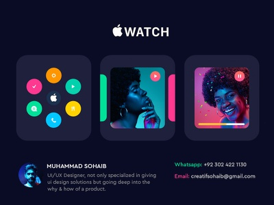 Apple Watch UI Design apple design apple watch ux website illustration colorful trending ui design inspiration creative