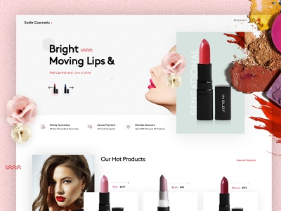 Cosmetic Landing Page Design inspirations designs landingpage designer website concept website designer branding website trending ui design inspiration creative