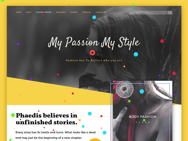 Lading Page For Fashion creative fashion landing page colorfull landing page