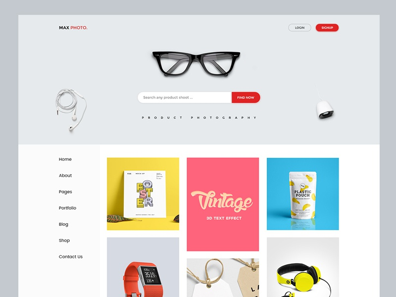 Product Photography PSD Template