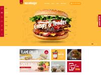 Burger restaurants website uifuse large