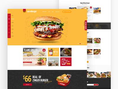 Burger Restaurants Website ui-01 food shop website ux ui product modern fun design clean burger