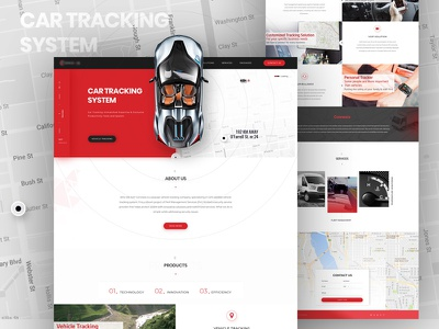 Car Tracking Website Template blog creative inspiration landing page editing website tracking car