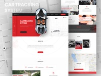 Car Tracking Website Template