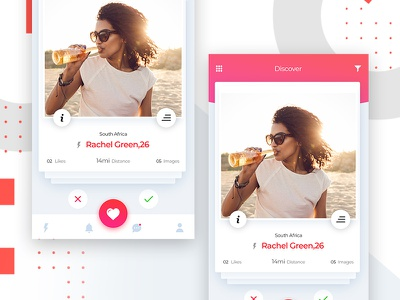 Dating App Design gradient pink ui done foods color combination love color trending application dating app