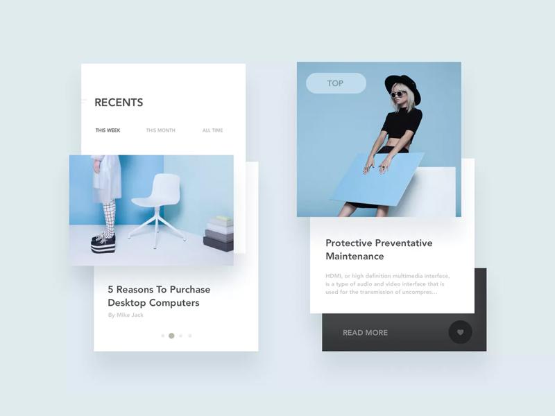Blog App Layout - UI Kit sketch mobile application. new style blog app