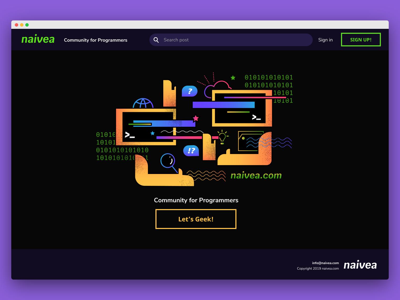 Naivea product design illustrations ui landingpage webdesig
