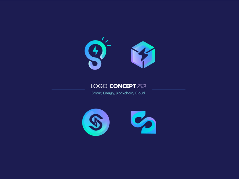 Smart Energy Logo Concept illustration cryptocurrency cloud computing startup logo startup lightning energy branding logodesign blockchaintechnology