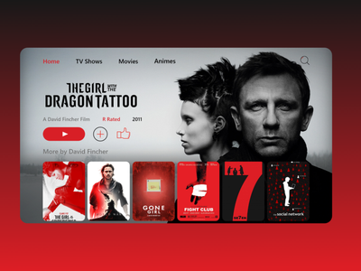 Movies & tv shows streaming service design concept hulu hbo netflix streaming service tv shows movies apps app web website landing page ux ui