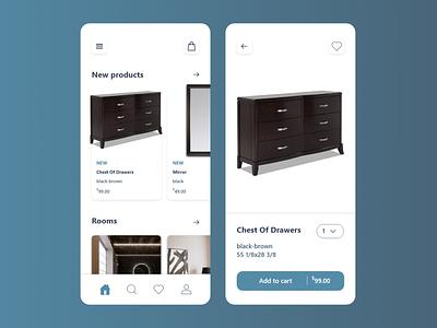 Furniture e-commerce phone app design concept e commerce ikea furniture apps app website web ux ui