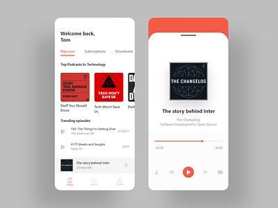 Podcasts phone app design concept spotify podcasts apps app websites website web ux ui
