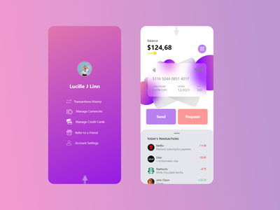 Payment wallet phone app design concept bank money paypal wallet payment websites app apps website web ux ui
