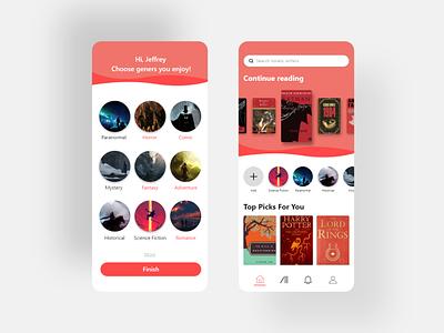 Stories reader phone app design concept wattpad kindle amazon kindle e reader books app websites apps website web ux ui