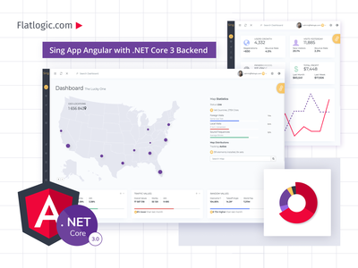 Sing App Angular NET Core 3 trendy backend net core net core angular dashboad admin template template interface app web dashboard ui
