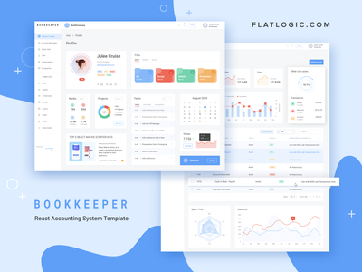 Bookkeeper ui ux accounting trendy design trend react admin template nodejs react template admin template app dashboard web