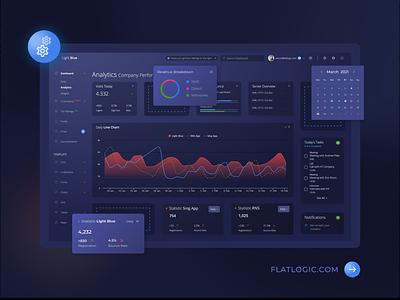 LIGHT BLUE VUE vue dark dashboard web design trendy template interface design admin template web app dashboard ux ui