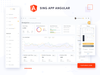 Sing App Angular dashboard trendy design angular trendy template design interface admin template web ux ui