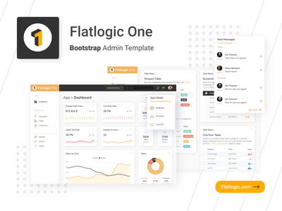 FLATLOGIC ONE BOOTSTRAP THEME admin templates trendy design bootstrap template design interface admin template app web dashboard ux ui
