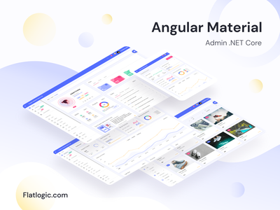 Angular Material Admin .NET Core material admin dashboard webdevelopment .net trendy design template design interface admin template app web dashboard ux ui